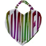 Summer Colorful Rainbow Typography Giant Heart Shaped Tote