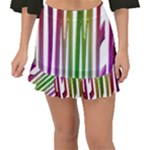 Summer Colorful Rainbow Typography Fishtail Mini Chiffon Skirt