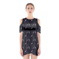 Magpies Shoulder Cutout One Piece by greenthanet