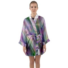 Gradient With Resynthetize Texture Long Sleeve Kimono Robe by goodart