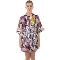 Every Girl Has A Dream Quarter Sleeve Kimono Robe