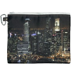 City At Night Lights Skyline Canvas Cosmetic Bag (xxxl) by Simbadda