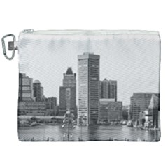 Architecture City Skyscraper Canvas Cosmetic Bag (xxl) by Simbadda