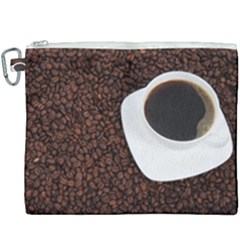 Coffee Canvas Cosmetic Bag (xxxl) by goodart