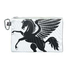 Peo Pegasus Black  Canvas Cosmetic Bag (large) by goodart