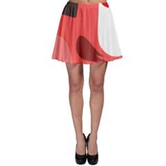 Pirate Bird Vector Clipart Skater Skirt by goodart