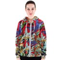 Blue Flamingoes 6 Women s Zipper Hoodie View1