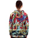 Blue Flamingoes 6 Women s Zipper Hoodie View2