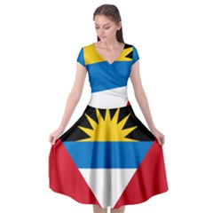 Flag Of Antigua & Barbuda Cap Sleeve Wrap Front Dress by abbeyz71