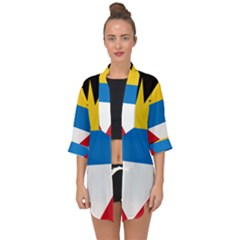 Flag Of Antigua & Barbuda Open Front Chiffon Kimono