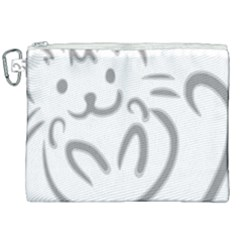 Cat Feline Cute Pet Animal Canvas Cosmetic Bag (xxl) by Simbadda