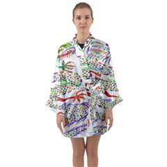 Dragon Asian Mythical Colorful Long Sleeve Kimono Robe by Simbadda