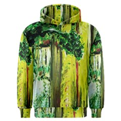 Old Tree And House With An Arch 8 Men s Overhead Hoodie