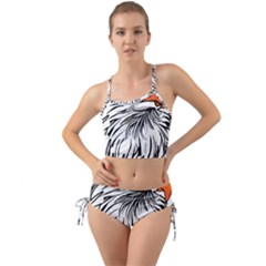 Animal Bird Cartoon Comic Eagle Mini Tank Bikini Set by Simbadda