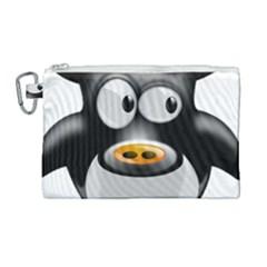 Cow Animal Mammal Cute Tux Canvas Cosmetic Bag (large) by Simbadda