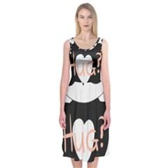Panda Hug Sorry Cute Cute Bear Midi Sleeveless Dress