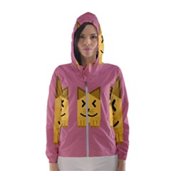 Pet Animal Feline Domestic Animals Hooded Windbreaker (women) by Simbadda