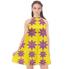 Fantasy Flower In The Happy Jungle Of Beauty Halter Neckline Chiffon Dress  by pepitasart