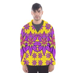 Fantasy Big Flowers In The Happy Jungle Of Love Hooded Windbreaker (men) by pepitasart