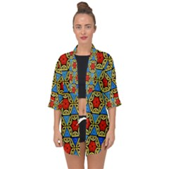 Artwork By Patrick Colorful 43 Open Front Chiffon Kimono by ArtworkByPatrick