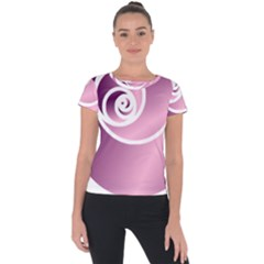 Rose  Short Sleeve Sports Top  by Jylart