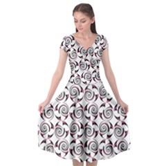 Spirai3+ Cap Sleeve Wrap Front Dress by Jylart