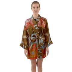 Fire And Water Long Sleeve Kimono Robe by digitaldivadesigns