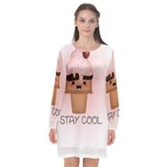 Stay Cool Long Sleeve Chiffon Shift Dress  by ZephyyrDesigns