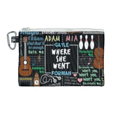 Book Quote Collage Canvas Cosmetic Bag (large) by Samandel