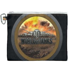 World Of Tanks Wot Canvas Cosmetic Bag (xxxl) by Samandel