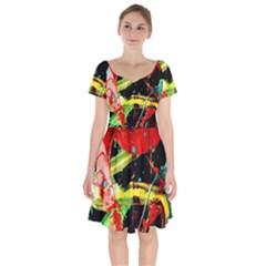 Enigma 1 Short Sleeve Bardot Dress by bestdesignintheworld