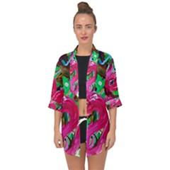 Flamingo   Child Of Dawn 1 Open Front Chiffon Kimono by bestdesignintheworld