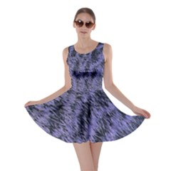 Violet Fur Texture Skater Dress by chihuahuadresses