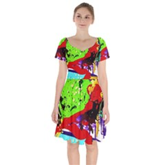 Untitled Island 4 Short Sleeve Bardot Dress by bestdesignintheworld