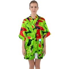 Untitled Island 3 Quarter Sleeve Kimono Robe by bestdesignintheworld