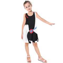 Dog Scottish Terrier Scottie Kids  Sleeveless Dress by Nexatart