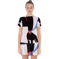 Dog Scottish Terrier Scottie Drop Hem Mini Chiffon Dress by Nexatart