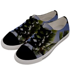 Palm Trees Tropical Beach Scenes Coastal   Men s Low Top Canvas Sneakers by CrypticFragmentsColors