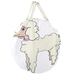 Poodle Dog Breed Cute Adorable Giant Round Zipper Tote