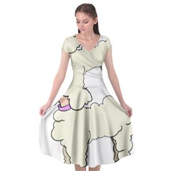 Poodle Dog Breed Cute Adorable Cap Sleeve Wrap Front Dress by Nexatart