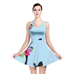 Woman Girl Lady Female Young Reversible Skater Dress
