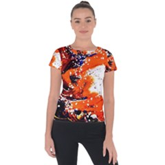 Smashed Butterfly 2 Short Sleeve Sports Top  by bestdesignintheworld