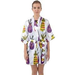 Pineapples Quarter Sleeve Kimono Robe by luizavictorya72