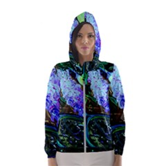 Lilac And Lillies 1 Hooded Windbreaker (women) by bestdesignintheworld