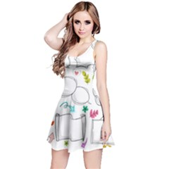 Set Chalk Out Chitchat Scribble Reversible Sleeveless Dress