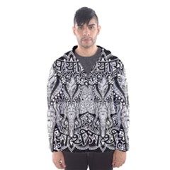 Ornate Hindu Elephant  Hooded Windbreaker (men) by Valentinaart