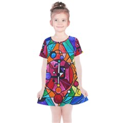 Arcturian Divine Order Grid   Kids  Simple Cotton Dress by tealswan