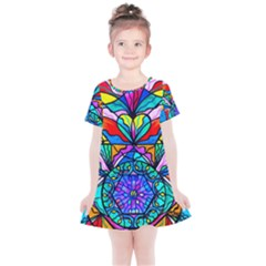 Heart Chakra Anahata   Kids  Simple Cotton Dress by tealswan