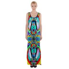 Receive   Maxi Thigh Split Dress