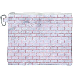 Brick1 White Marble & Pink Glitter (r) Canvas Cosmetic Bag (xxxl) by trendistuff